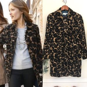 Boden Velvet Animal Print Coat, EUC